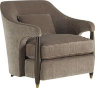 This comfortable chair features a turned leg, which serves as the signature detail, reminiscent both of old-world European detailing and mid century glamour. The Hermano references days past, while enduring the contemporary. Baker Furniture, Sofa Furniture, Sofa Chair, Luxury Furniture, Furniture Design, Cheap Furniture Online, Discount Furniture, Best Leather Sofa, Wooden Sofa