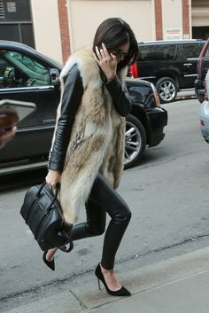 Spotted: Kendall Jenner's first NYFW street style moment.