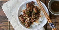 This easy to make slow cooker Asian braised beef dish combines garlic, ginger, lemongrass, soy sauce, and rice vinegar to create a delicious