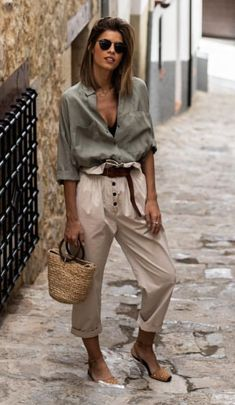 Mode Outfits, Chic Outfits, Fashion Outfits, Womens Fashion, Fashion Trends, Spring Summer Fashion, Spring Outfits, Summer Chic, Casual Summer