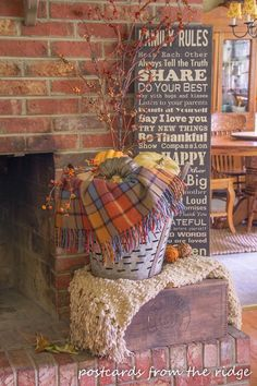 Postcards from the Ridge: Vintage themed fall decor and Fall home tour