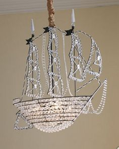 Crystal Ship Chandelier - costs £4000 but we are going to try to make our own!