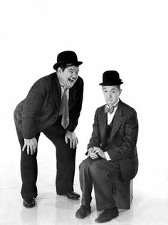 Oliver Hardy and Stan Laurel