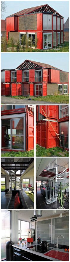 Container House - Spacious Container House Made of 8 Shipping Containers - Who Else Wants Simple Step-By-Step Plans To Design And Build A Container Home From Scratch? Shipping Container Home Designs, Building A Container Home, Storage Container Homes, Container Buildings, Container Architecture, Container House Design, Shipping Containers, Shipping Container Conversions, Eco Buildings