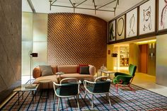 Experience a taste of Milanese culture at the boutique Room Mate Giulia Hotel in Milan with modern rooms and design by Patricia Urquiola. Patricia Urquiola, Hotel Milan, Hotel Room Design, Hotel Restaurant, Das Hotel, Hotel Interiors, Design Interiors, Top Interior Designers, Contemporary Interior Design