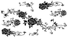 Black Rose Temporary Tattoos Vintage Tattoo Floral Temporary