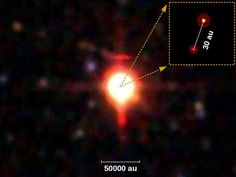 A team of astronomers has discovered a binary star system with the closest high-mass young stellar objects ever measured. Arrow Of Time, The Distance Between Us, Binary Star, Observational Study, Online College Degrees, Star Formation, Star System, Quantum Mechanics, Astrophysics