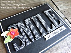 Check out the fun video for making this ADORABLE card using Stampin Up's Large Letters Framelits and Falling Flowers Bundle on my blog:…