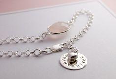 Brautschmuck - 925 Silber Hochzeit Armband Braut Bräutigam Mutter - ein…