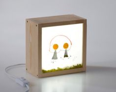 Light Box Swallows by kitkasa on Etsy