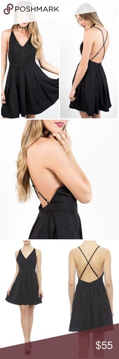 NWT Minkpink Halter CrossBack Black Dress So cute and perfect for spring and summer! Brand new with tags. Size small. No trades!! 03251780wst MINKPINK Dresses Mini