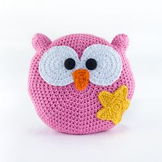 Crochet Pillow Owl  from One and Two Originals by DaWanda.com