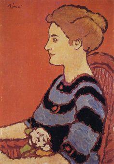Woman in Blue Dress (József Rippl-Rónai - )