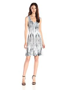 OneWorld Womens Sleeveless FlipFlop Dress with Bling Ascending ExcitementWhite Small >>> You can get additional details at the image link.