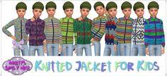 Annett's Sims 4 Welt: Knitted Jacket for Kids