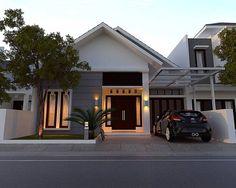 Permalink to √ Prospek Rumah Minimalis Tahun Anda Wajib Tahu! Dream House Plans, Modern House Plans, My Dream Home, House Front Design, Modern House Design, Minimalis House Design, Style At Home, Bungalow Haus Design, One Storey House