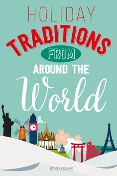 Fun holiday traditions from around the world to try out with the kids!!