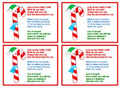 Candy Cane poem printable for kids. Colored text on pg. 1 and black text on pg. Candy Poems, Candy Cane Poem, Candy Cane Story, Candy Cane Image, Candy Cane Crafts, Candy Cane Ornament, Christmas Art Projects, Christmas Poems, Christmas Candy