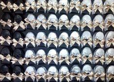 Flats para boda en plata y negro
