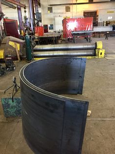 Steel plates rolled on our plate roll in Denver, Colorado at Longero