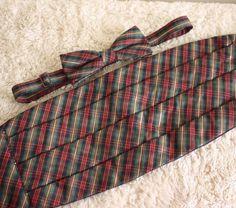 Christmas Plaid Red Green Gold Cummerbund & Bow Tie Set One Size Fits All  #Unknown #BowTie