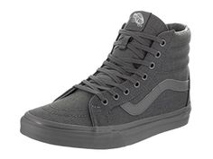 Vans Unisex Sk8Hi Reissue Mono Chambray GrayGray Skate Shoe 45 Men US  6 Women US ** Click image to review more details. (This is an affiliate link) #WomensSkateboardingFootwear