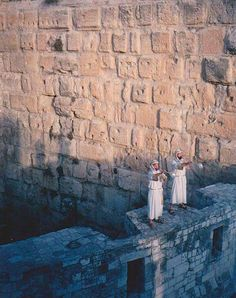 Blow the trumpet in Zion. JOEL 2v1 on the walls of temple mount Jerusalem