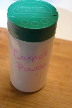 Homemade carpet powder helps with pet hair and freshening
