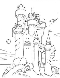 191 meilleures images du tableau coloriage chateau fort knights adult colouring in et - Coloriage chateau chevalier ...