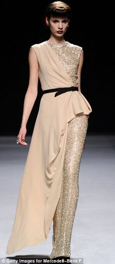 Forties-inspired Film Noir theme by designer Jenny Packham, NY Fashion Week 2012