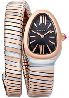 Bulgari - Serpenti 35 mm - Steel and Pink Gold Watch 102123 SP35BSPG.1T