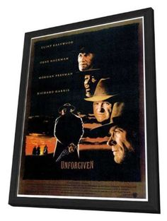decal jewelry unforgiven 27 x 40 movie poster style a in delu wood frame