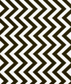 Moda Medium Zig Zag Black Fabric