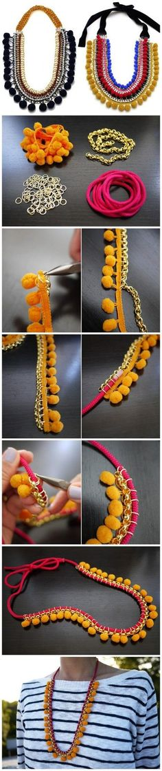 Gorgeous DIY Necklaces - #art, #diy, #jewlery, Crafts, Necklace