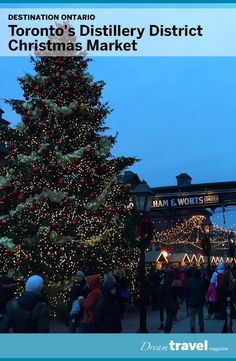 Each year the Distillery District in Toronto transforms into a magical Christmas Market and wonderland. Food, music and craft shopping make this a must see event each year.