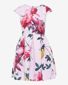 Citrus Bloom pleated dress - Pink   Dresses   Ted Baker
