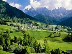 Santa Maddalena church in the Dolomites Mountains Landscapes Photographic Print - 61 x 46 cm