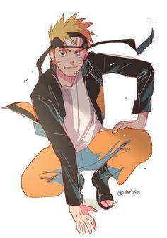Naruto (not my drawing) Anime Naruto, Naruto Y Boruto, Naruto Fan Art, Naruto Cute, Sarada Uchiha, Kakashi Hatake, Naruto And Sasuke, Gaara, Manga Anime