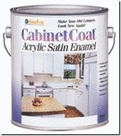 Painting Cabinets - I've also heard about a product called Cabinet Coat, it's supposed to be a tough as nails finish that leaves a very hard and protective surface for cabinets. I think you can get it at Ace Hardware and other places. I read online that this gives a really smooth surface over a sanded primer, and to lightly sand between coats for the best results.
