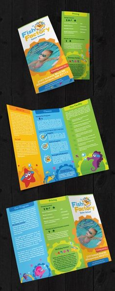 Fish Factory Swim School needs a new brochure design by jeni