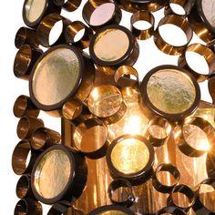 Glossy Bronze / Champagne Glass Detail
