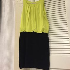 Impeccable Pig dress Yellow and black Impeccable Pig dress. Black skirt is cotton and hugs the body. Size medium. Worn a few times, good condition. Great for going out! Dresses Mini