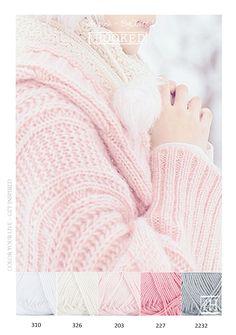 Kleurinspiratie soft - Zachte tinten roze en grijs van het mooie garen ByClaire…