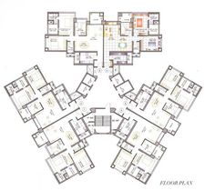 high rise residential floor plan - Google Search: