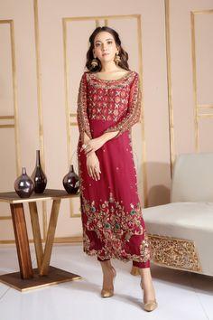 Hundreds of new looks updated every day! Shadi Dresses, Pakistani Formal Dresses, Pakistani Wedding Outfits, Pakistani Dress Design, Bridal Outfits, Indian Dresses, Pakistani Clothing, Net Dresses, Nikkah Dress