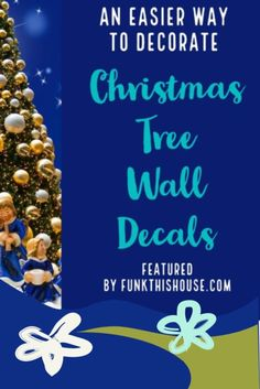 When putting up a tree isn't a viable option, wall decals are a terrific solution. They're easy to put up, then remove when the season is over. #christmastreedecal #christmastreewalldecals #treedecals #funkthishouse Christmas Tree Wall Decal, Christmas Tree Decorations, Tree Decals, Wall Decals, Christmas Items, Party Stuff, Getting Things Done, Party Themes, Walls