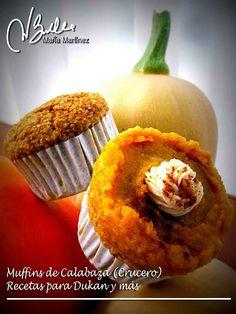 Magdalenas Dukan de Calabaza (Muffins Dukan), receta para Crucero PV o para la nueva dieta Dukan fácil desde el martes.