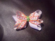 Orange spring bow
