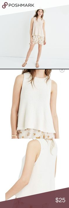 """NWT Madewell Sunsetter Tank XS I just purchased online at final sale and it's slightly too short for me (I'm 5'7""""). Beautiful, high quality material, sold out on Madewell and Nordstrom. Madewell Tops Tank Tops"""