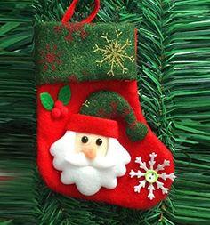 Mikey Store Christmas Party Candy Gift Bag Stocking Socks Filler Xmas Decor Christmas Souvenir Candy Bag C *** You can find out more details at the link of the image.